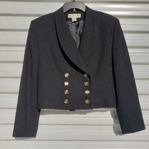 Dior military inspired vintage cropped wool blazer